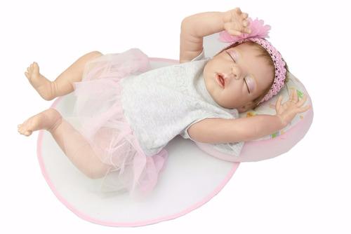 boneca reborn bebe reborn toda em vinil siliconado dormindo