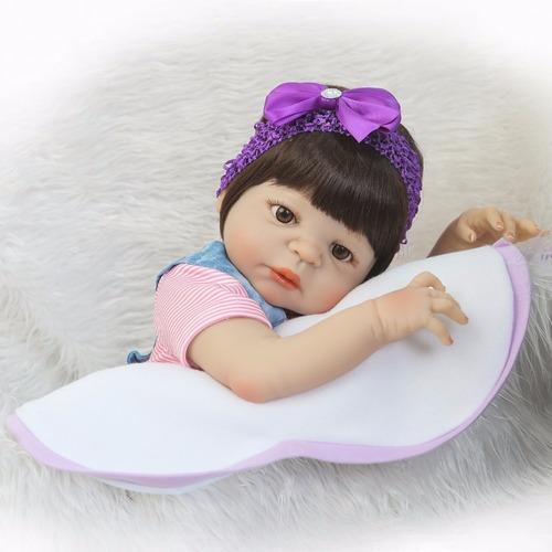 boneca reborn realista toda vinil siliconado promoção 55cm