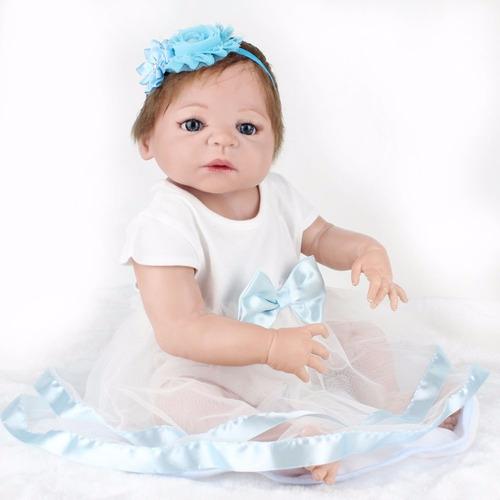 boneca reborn toda em vinil siliconado 55cm por 550,00 reais
