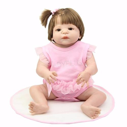 boneca reborn toda em vinil siliconado 58cm por 560,00 reais
