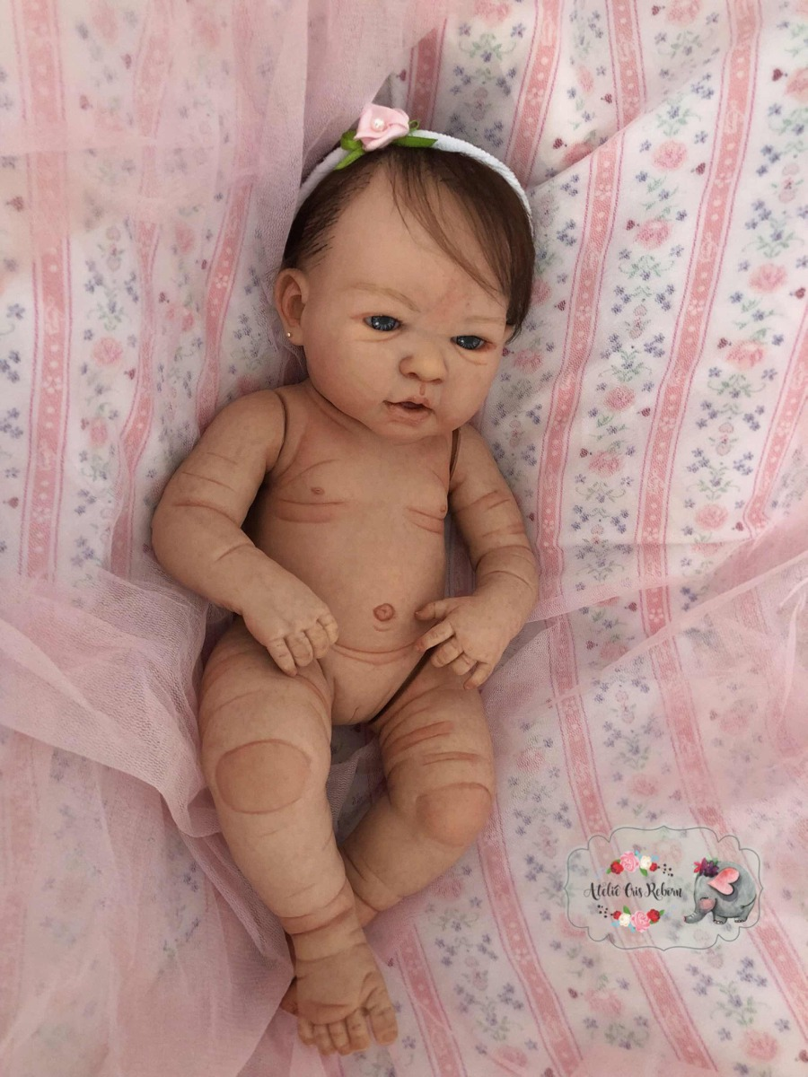 91c2754b8 Boneca Reborn- Valentina- Corpo Inteiro Em Vinil - R  550