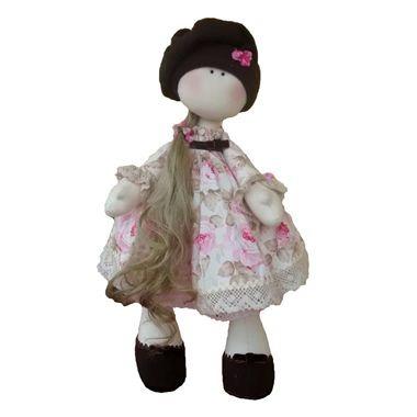 boneca russa de pano articulada - rose