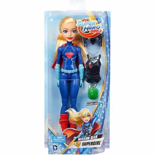 boneca super girl dc super hero girls mattel barbie missão