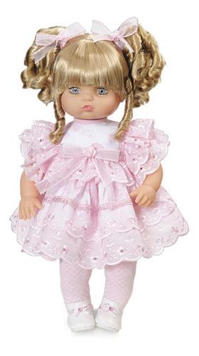 boneca tipo bebe reborn addara cachinhos dourados fala frase