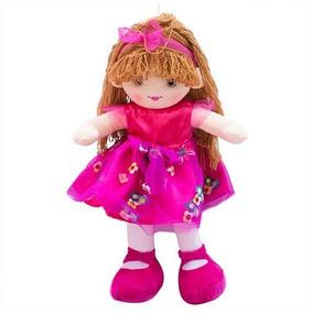 e9a0ffa748 Boneca Vestido Pink Cabelo Castanho Claro Encaracolado 59cm