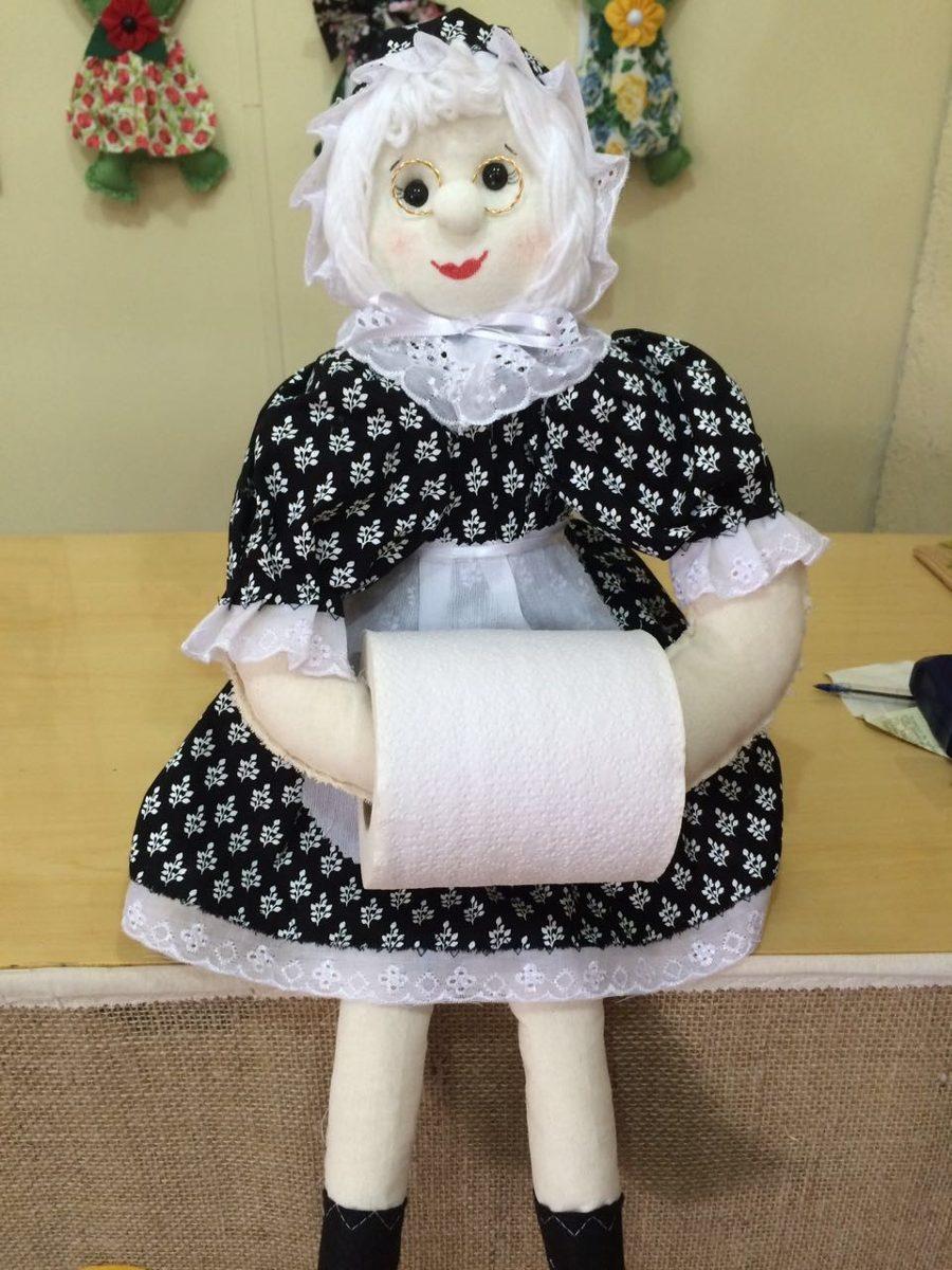 Aparador Para Sala De Jantar Planejado ~ Boneca Vovó De Pano Artesanal Porta Papel Higi u00eanico 50cm R$ 59,90 em Mercado Livre