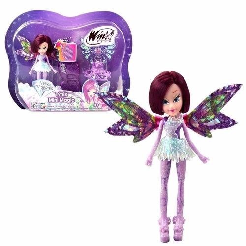 boneca winx club - tynix mini magic tecna 12 cm - wxmm001