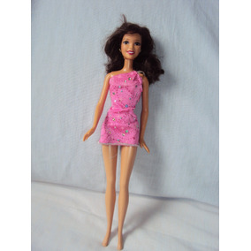 54236bed6f Barbie Morena Vestido Rosa no Mercado Livre Brasil