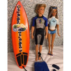 fa8472b9880d6 Boneco Ken Barbie Surfista Mattel - Brinquedos e Hobbies no Mercado Livre  Brasil