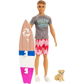 268ee8117bea6 Barbie Ken Surfista no Mercado Livre Brasil