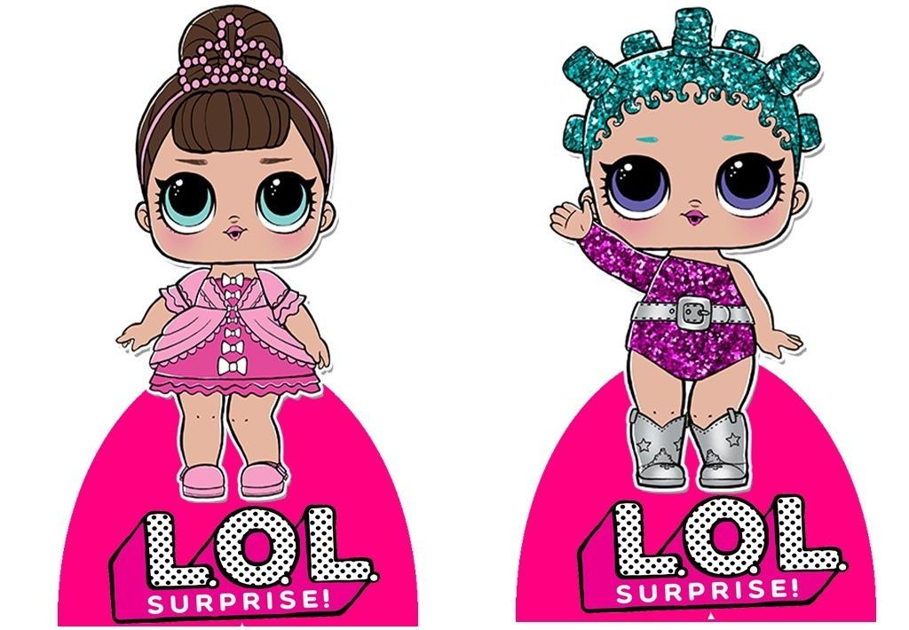 bonecas de lol 10 display de festa infantil de 30cm totens r 59