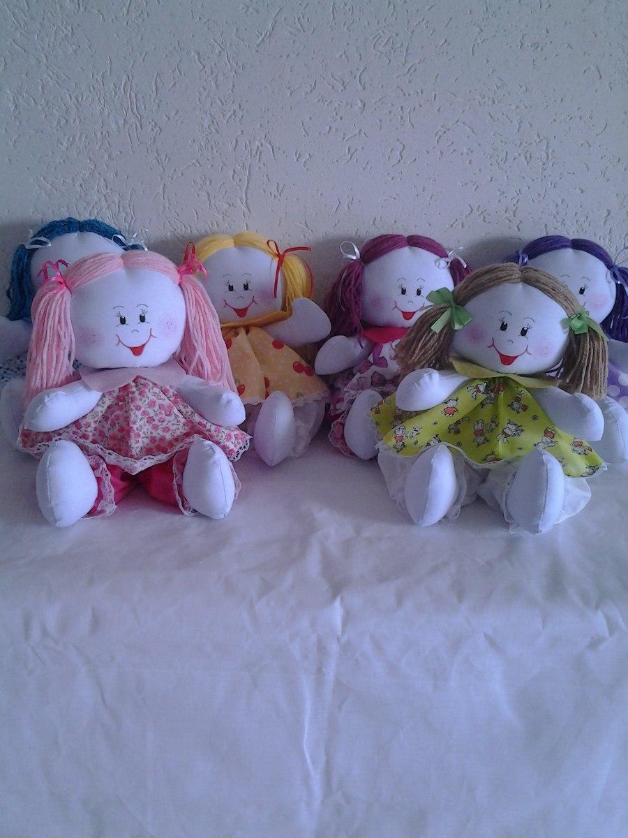 Bonecas De Pano Artesanal Decora O Quarto Bebe Kit Com 6 R 195  ~ Artesanato Para Decoração De Quarto