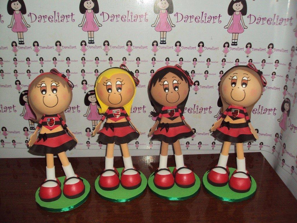 bonecas do flamengo em eva 3d 23 cm - kit c  4 - futebol. Carregando zoom. 07840aa836828