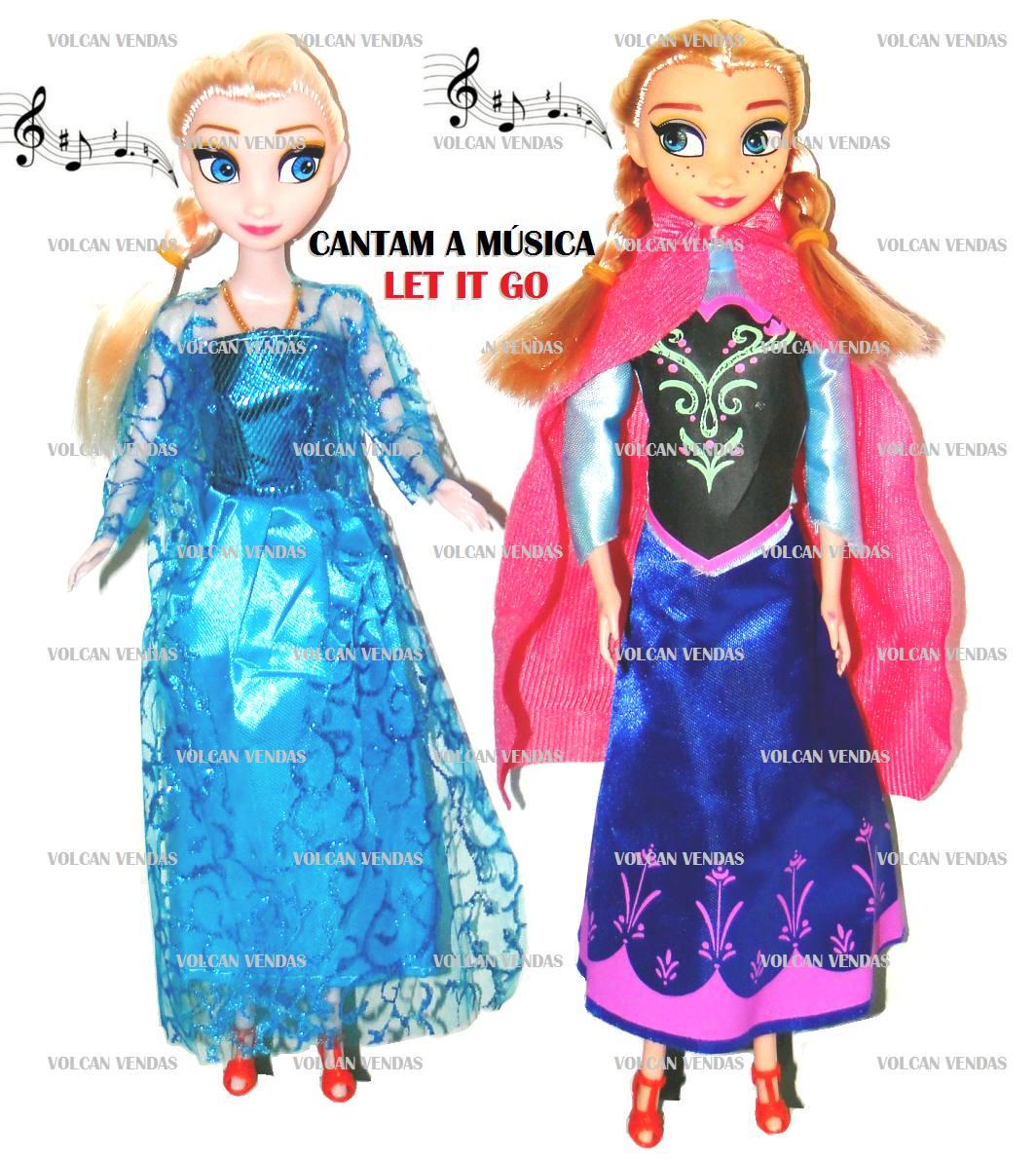 c77658ff1a bonecas frozen anna e elsa musical kit com 2 olaf brinde. Carregando zoom.
