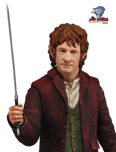 boneco action figure - bilbo baggins 1/4 scale - neca