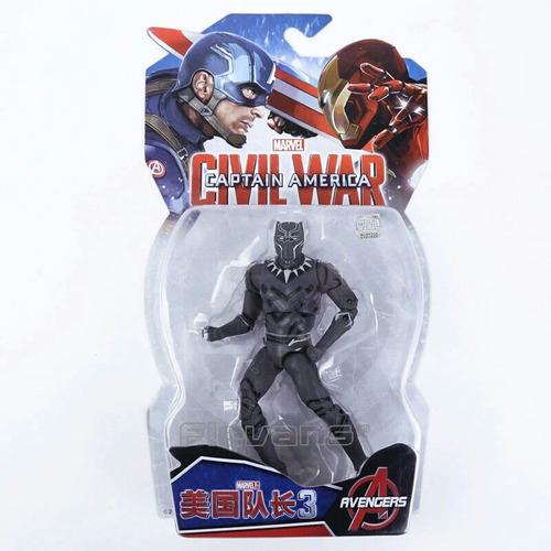 boneco action figure pantera negra guerra civil vingadores