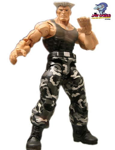 boneco action figure - street fighter - guile - alt. costume