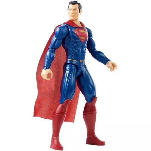 boneco articulado 30 cm dc liga da justiça superman - mattel