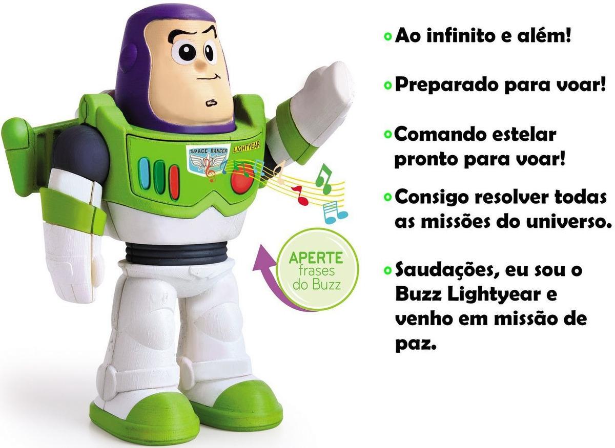 Boneco Articulado Buzz Lightyear Eletrônico 5 Frases 20 Cm