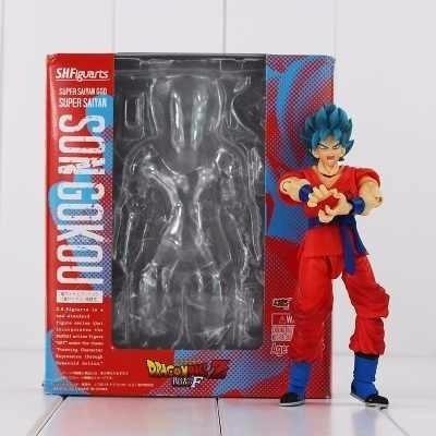 boneco articulado goku deus ssj blue figuarts dragon ball z