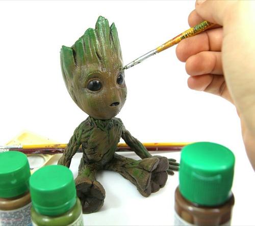 boneco baby groot 15cm pintado realista frete gratis