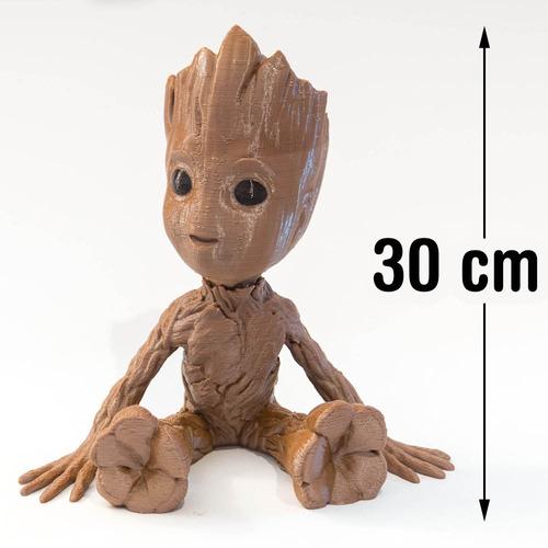 boneco baby groot *30cm* (guardiões galáxias) cabeça móvel