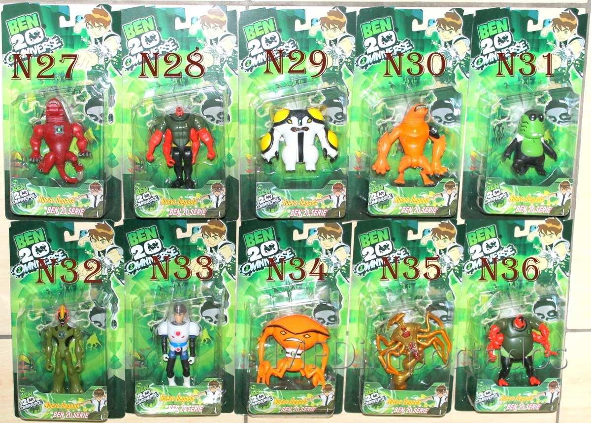 Boneco ben 10 cole o ben10 ominiverse kit com 8 aleatorios r 65 73 em mercado livre - Ben 10 tous les aliens ...