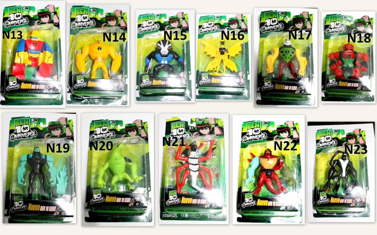Boneco ben 10 cole o ben10 brinquedo kit com 4 aleatorios r 76 58 em mercado livre - Ben 10 tous les aliens ...
