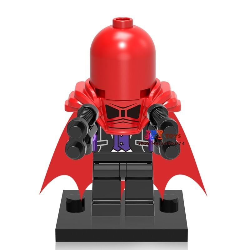 56403e46f1413 boneco bloco de montar dc capuz vermelho batman - kit 4 bone. Carregando  zoom.