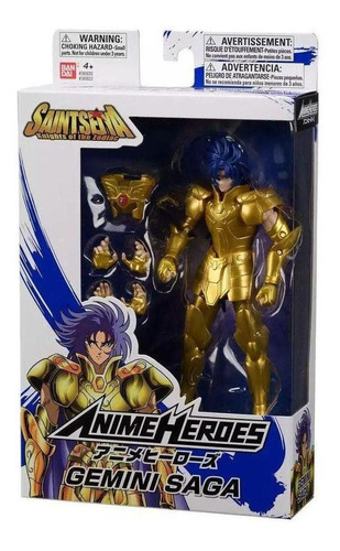boneco cavaleiros do zodíaco anime heroes gemini saga fun