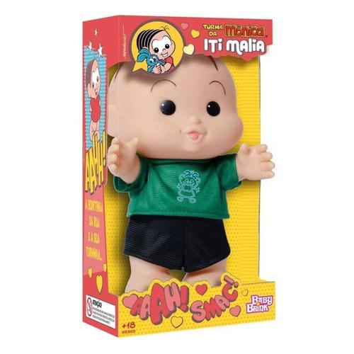 boneco cebolinha 23 cm turma da mônica iti malia novabrink