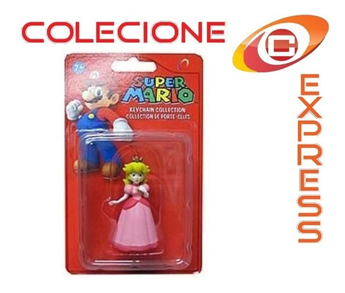 boneco chaveiro peach super mario bros game console ps3 xbox