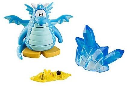 boneco club penguin serie 8 dragão azul dragon blue disney