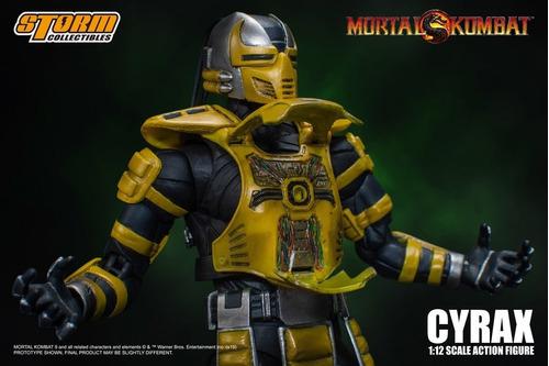 boneco cyrax mortal kombat storm collectibles 1/12 mk3