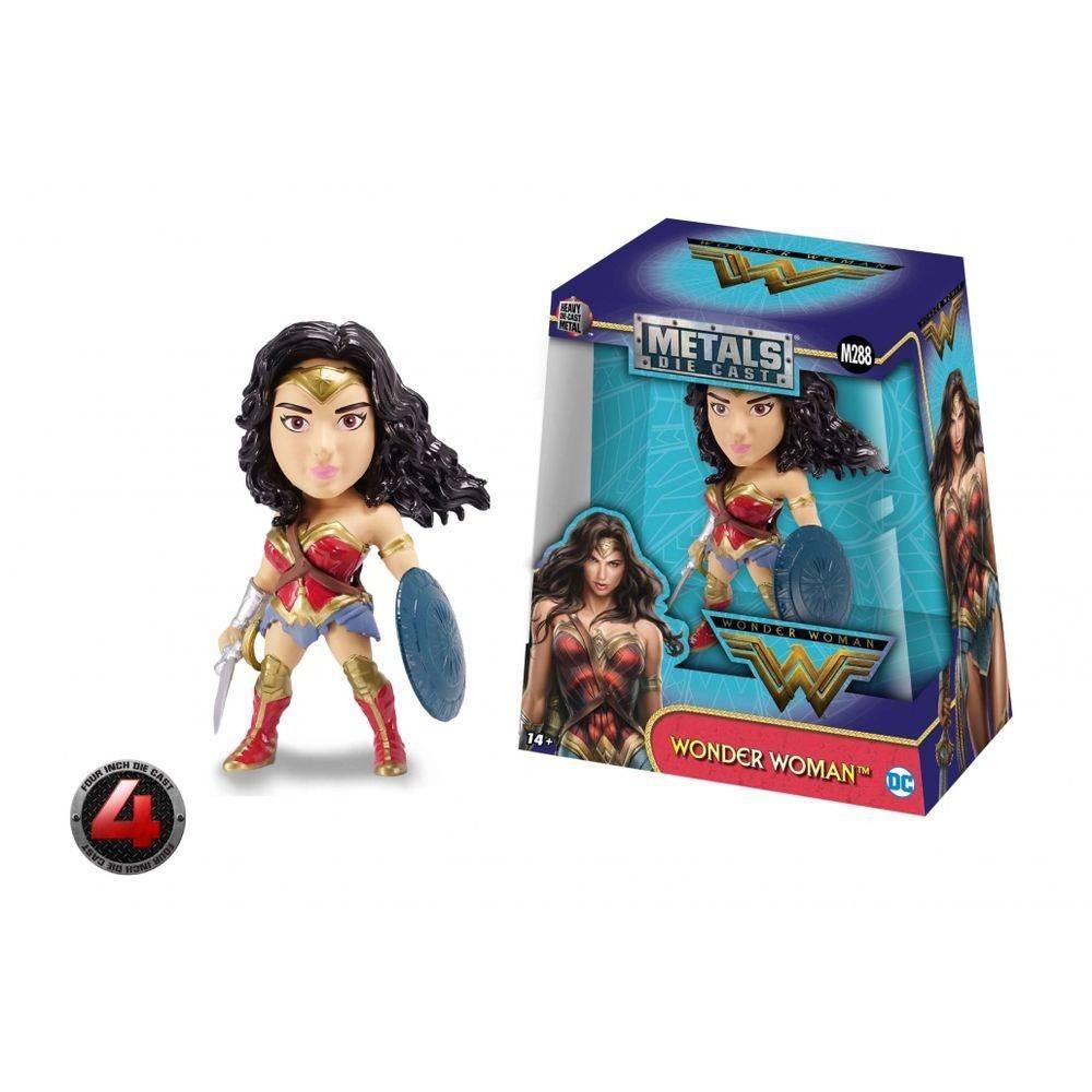 Boneco Dc Metal Diecast Wonder Woman Mulher Maravilha