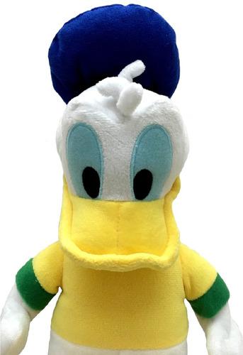 boneco de pelúcia mascote pato donald 30cm brasil disney