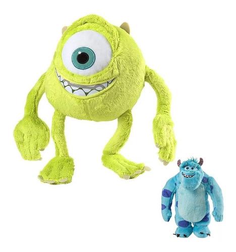 boneco de pelucia monstros s a  sulley mike c/ som 30cm