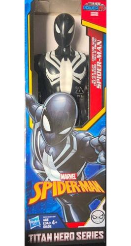boneco do homem aranha traje negro 30cm - hasbro