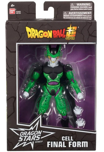 boneco dragon ball super articulado cell final figura bandai