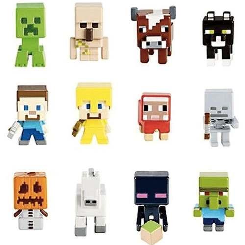 Boneco E Personagem Minecraft Sort Figuras 3 Pack Mattel
