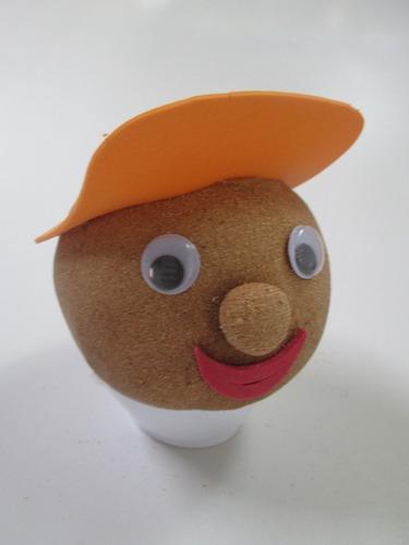 boneco ecológico menino - combo c/ 10 un