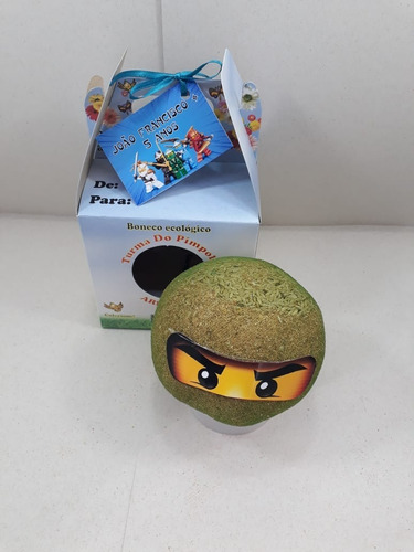 boneco ecológico ninjago - combo c/ 5 unidades
