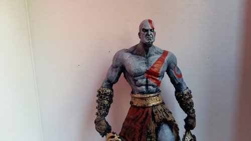 boneco em resina do kratos - god of war / deus da guerra