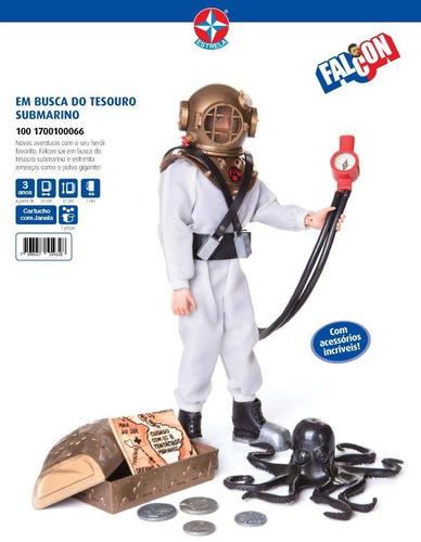 boneco falcon tesouro submarino - estrela