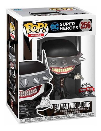 boneco funko pop dc super heroes batman que ri laughs 256