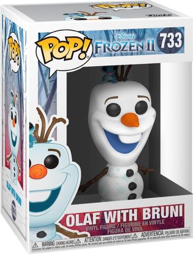 boneco funko pop disney frozen 2 olaf with bruni 733