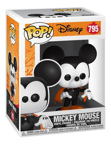 boneco funko pop disney halloween spooky mickey 795
