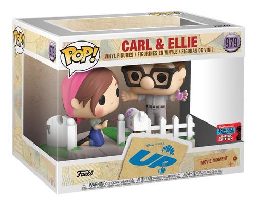 boneco funko pop disney pixar up carl & ellie 979 nycc 2020