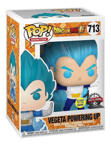 boneco funko pop dragon ball super vegeta powering up 713