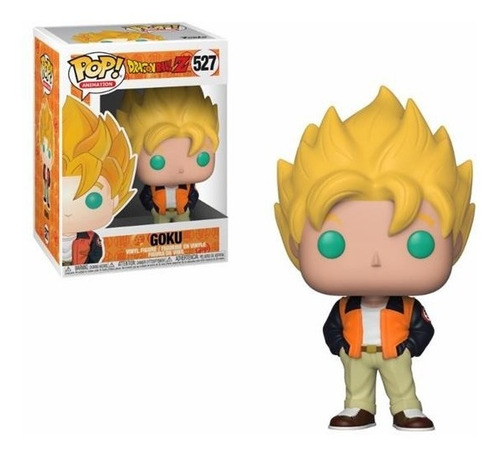 boneco funko pop dragon ball z goku (casual) - #527